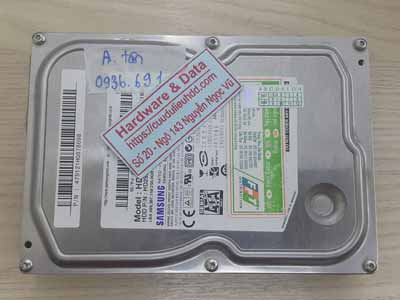 khôi phục dữ liệu ổ cứng Samsung 250GB chết cơ