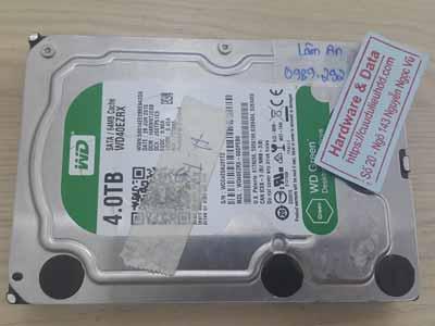 phục hồi dữ liệu ổ cứng Western 4TB chết cơ