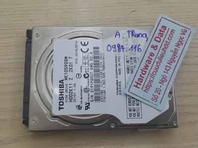 lấy lại dữ liệu Toshiba 1TB hỏng đầu từ