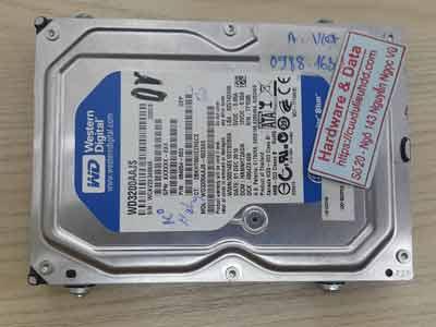 Khôi phục dữ liệu ổ cứng Western 320GB chết cơ