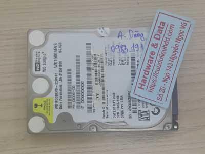 lấy lại dữ liệu ổ cứng Western 160GB Bad sector