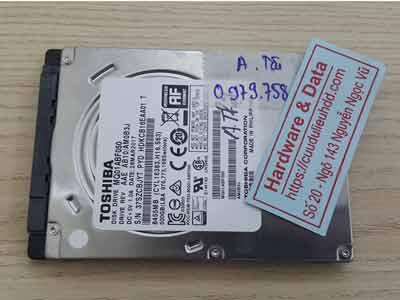 phục hồi dữ liệu ổ cứng Toshiba 500GB đầu từ lỗi