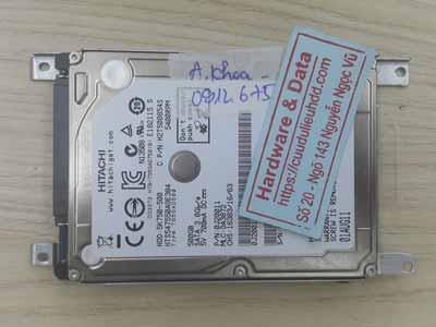 Khôi phục dữ liệu ổ cứng Hitachi 500GB mất dữ liệu