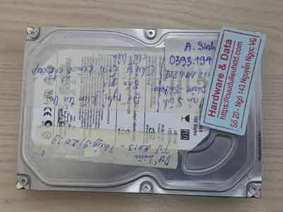 Lấy lại dữ liệu ổ cứng Seagate 160GB lỗi đầu từ