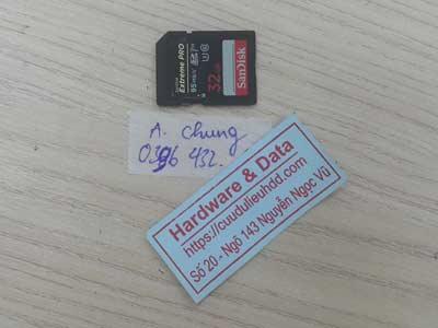 lấy dữ liệu thẻ nhớ 32GB mất dữ liệu