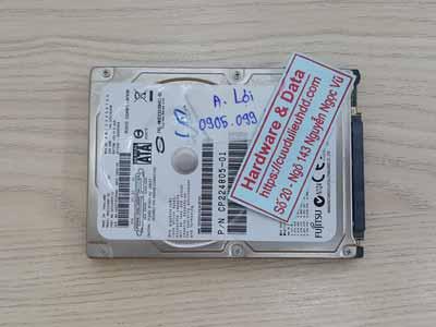 phục hồi dữ liệu ổ cứng Fujitsu 320GB chết cơ