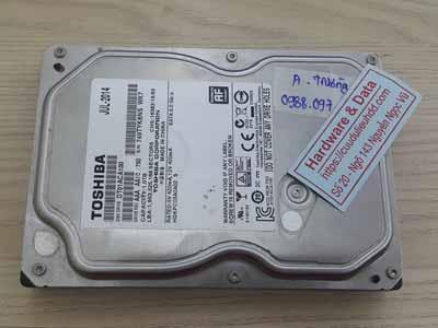 Lấy lại dữ liệu ổ cứng Toshiba 1TB đầu từ lỗi
