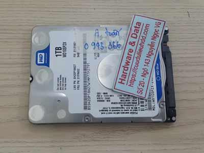Cứu dữ liệu ổ cứng Western 1TB đầu từ lỗi