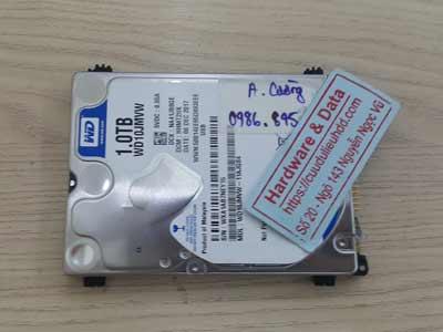 phục hồi dữ liệu ổ cứng Western 1TB chết cơ