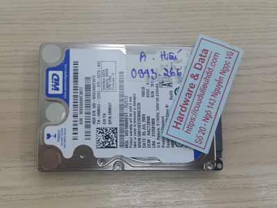 lấy lại dữ liệu ổ cứng Western 160GB đầu từ lỗi