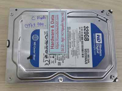 Phục hồi dữ liệu ổ cứng Western 320GB đầu từ hỏng