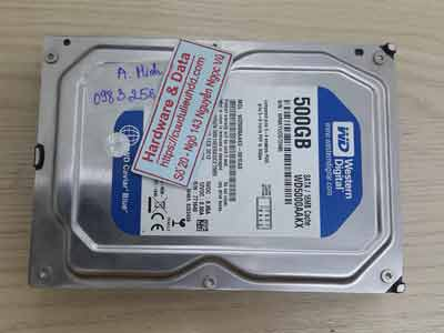 Lấy lại dữ liệu ổ cứng Western 500GB bad nặng