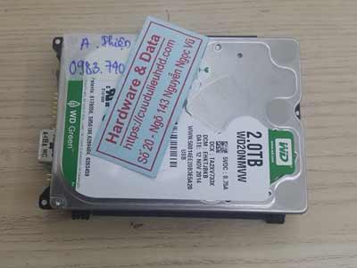 Phục hồi dữ liệu ổ cứng Western 2TB đầu từ lỗi