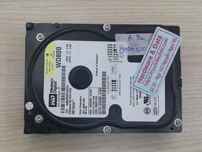 khôi phục dữ liệu ổ cứng Western 80GB chết cơ