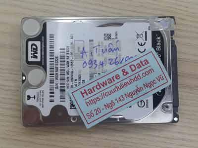 Phục hồi dữ liệu ổ cứng Western 500GB hỏng đầu từ