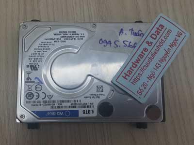 khôi phục hồi dữ liệu ổ cứng Western 4TB lỗi đầu từ
