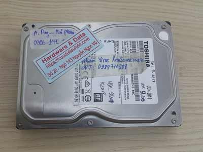 Lấy lại dữ liệu ổ cứng Toshiba 1TB virus mã hóa