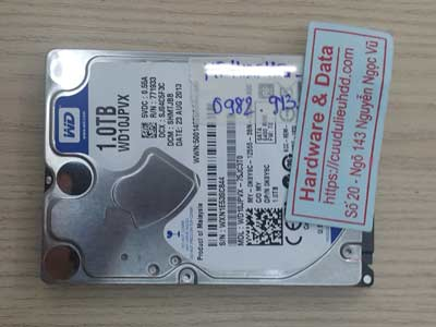 Lấy lại dữ liệu ổ cứng Western 1TB đầu từ lỗi