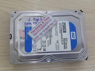 Phục hồi dữ liệu ổ cứng Westen 250GB hòng dầu từ