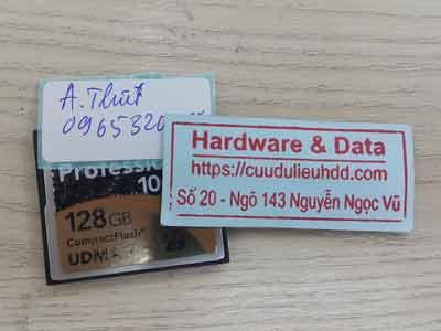 lấy lại dữ liệu ổ cứng 128GB mất dữ liệu