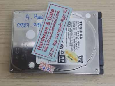 Cứu dữ liệu ổ cứng Toshiba 1TB chết cơ