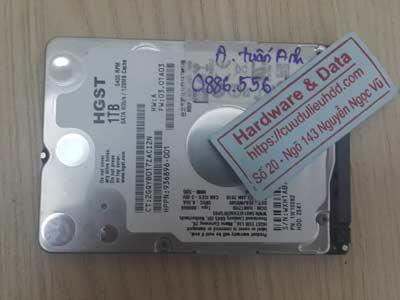 Cứu dữ liệu ổ cứng Hitachi 1TB