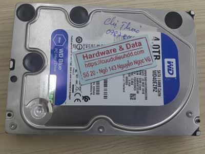 Cứu dữ liệu ổ cứng Western 4TB virus mã hóa