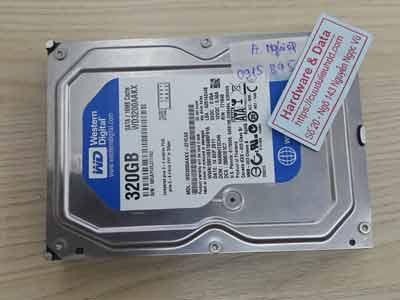 Phục hồi dữ liệu ổ cứng Western 320GB đầu đọc lỗi