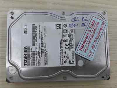 Khôi phục dữ liệu ổ cứng Toshiba 500GB Bad nặng