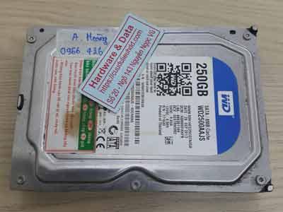 lấy lại dữ liệu ổ cứng Western 250GB đầu đọc lỗi