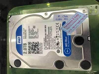 Cứu dữ liệu ổ cứng Western 2TB đầu đọc lỗi