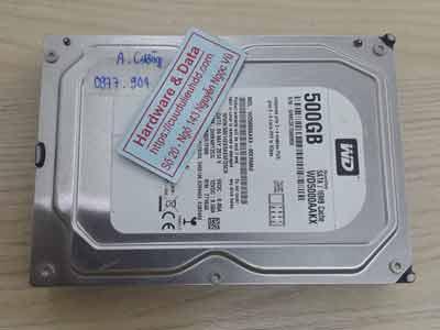 lấy lại dữ liệu ổ cứng Western 500GB virus mã hóa
