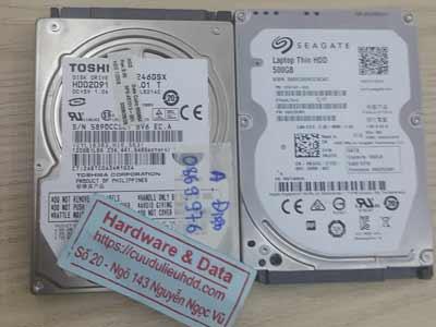 phục hồi dữ liệu ổ cứng Toshiba 120Gb đầu đọc lỗi