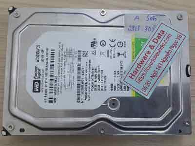 cứu dữ liệu ổ cứng Western 500GB đầu đọc kém