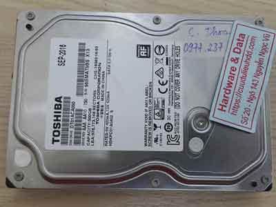 Cứu dữ liệu ổ cứng Toshiba 500GB đầu từ lỗi