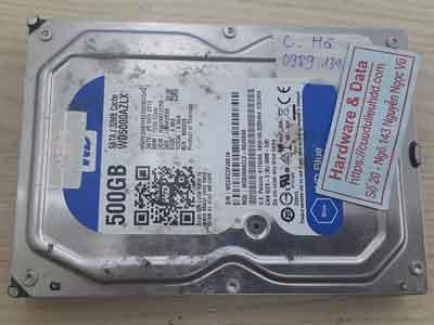 khôi phục dữ liệu ổ cứng Western 500Gb chết cơ