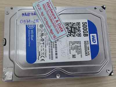 lấy dữ liệu ổ cứng Western 500GB chết cơ