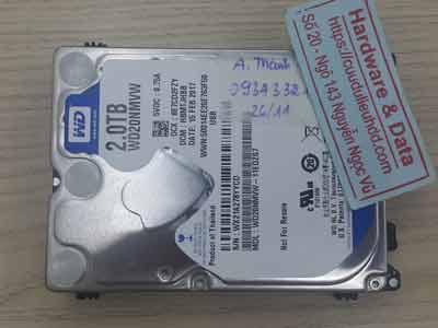 phục hồi dữ liệu ổ cứng Western 2TB chết cơ