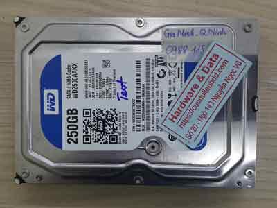 Cứu dữ liệu ổ cứng Western 250GB virus mã hóa