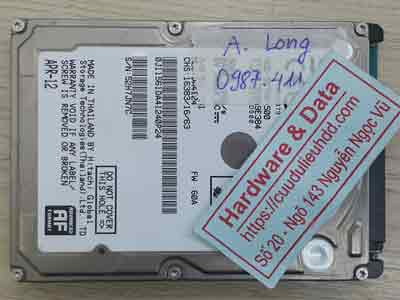 phục hồi dữ liệu ổ cứng Hitachi 500GB bad Sector