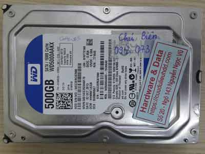 Western 500GB đầu từ lỗi