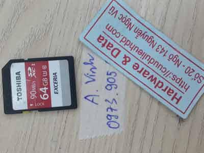 the nho 64GB yêu cầu format