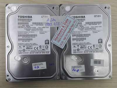 Khôi phục dữ liệu Toshiba 500GB mất dữ liệu