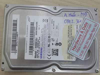 Samsung 80GB đầu từ lỗi