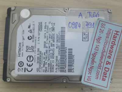 Hitachi 500GB chết cơ