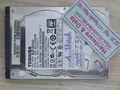 Toshiba 500GB đầu đọc lỗi