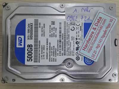 Western 500GB đầu đọc lỗi