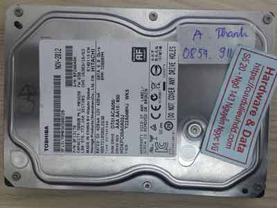Toshiba 500GB đầu từ lỗi