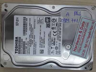 Toshiba 500GB chết cơ
