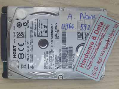 Hitachi 500GB format nhầm